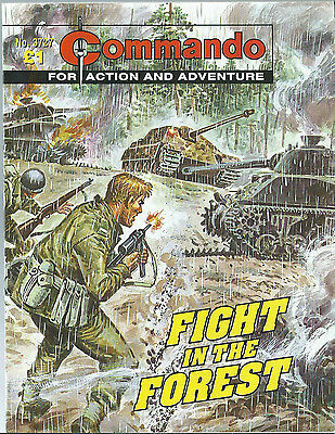 Fight In The Forest,commando For Action And Adventure,no.3727,war Comic,2004