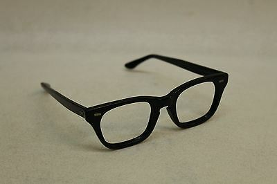 HALO Men's Black Vintage Square Shaped Lens Eye Glasses Frame Empty Case