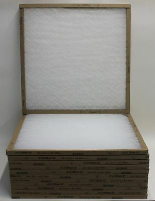 "12 X BNIB FLANDERS E-Z Flow II 24""X24""X1"" Square Fiberglass Furnace Air Filter"