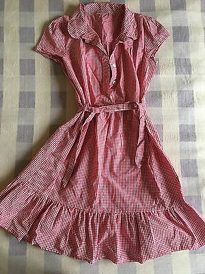 Pretty Next Red & White Gingham School Dress, Age 13 years