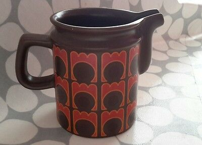 An AWS. Arthur Wood  Geometric brown & orange JUG vintage retro