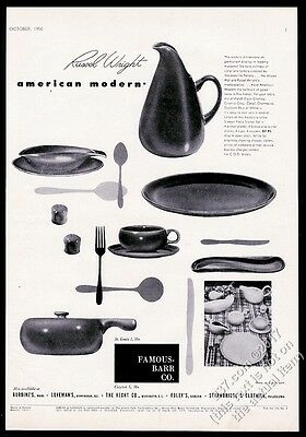 1950 Russel Wright American Modern pitcher plate cup saucer photo vintage ad