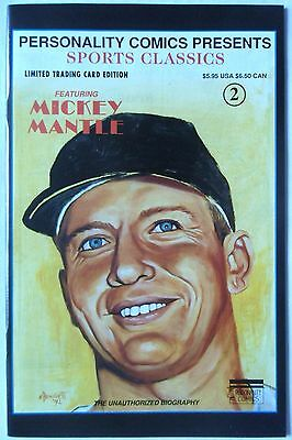 Mickey Mantel Personality Sports Comic #2 Limited Card Edition 1992