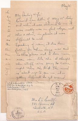 WWII Letter. 1st Marine Division. Okinawa Battle, May 1945. 4th JASCO Officer.