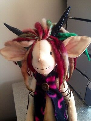 Felix Faun By Dusty Attic Bears One Of A Kind Art Doll