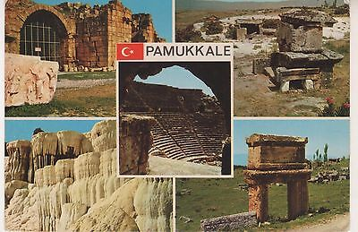Pamukkale.  Multi-view postcard. Some wear. Unused