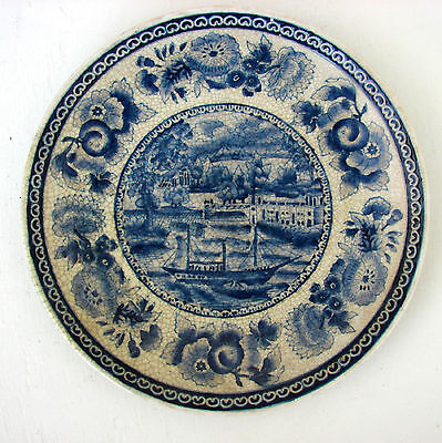 Winterthur Blue Ship Flowers Decorative Wall or Display Oriental Accent Plate