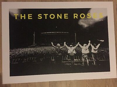 The Stone Roses - Manchester Lithograph gig poster, June, 2016