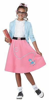 Grease 1950's Poodle Skirt Girls Rock N Roll Child Costume - Pink