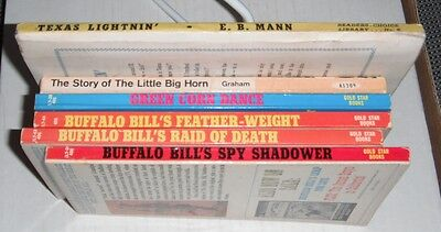 Western Books...6 pcs- 1950--1965...A...Buffalo Bill, Custer, etc....