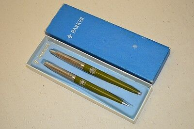 Vintage Parker 7up Soda Advertising Ball Point Pen Mechanical Pencil Set