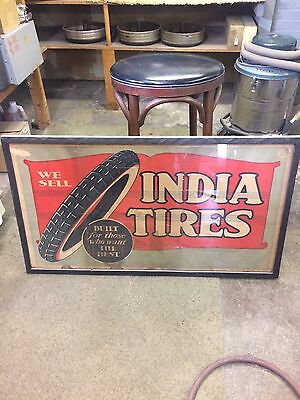 20s 30s VINTAGE INDIA TIRE POSTER