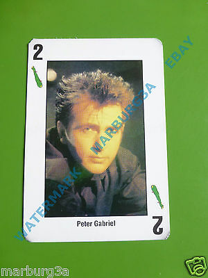 PETER GABRIEL IN 1 VERY RARE CARD of ARGENTINA