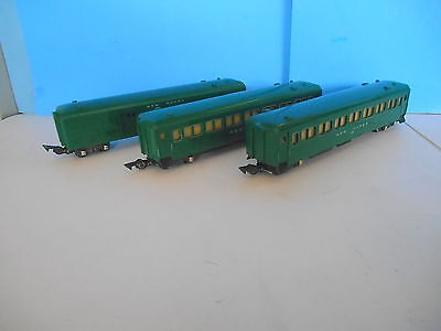 American Flyer S Gauge 650 650 651 Green 3 Car Passenger Set