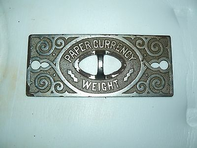 cash register  paper currency weight 1890's nice