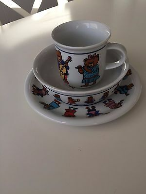 Arzberg Children's Plate, Cup And  Bowl Set Made In Germany