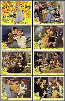 MEET ME IN ST LOUIS  JUDY GARLAND  COMPLETE SET OF 8  11x14 LC PRINTS 1944