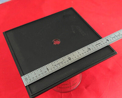 "Kodak 4x5 Master View Camera LENS BOARD [Only] Unused w/Pilot Hole 4x4"" Square j"