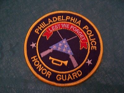 Police Patch Phila Honor Guard Patch