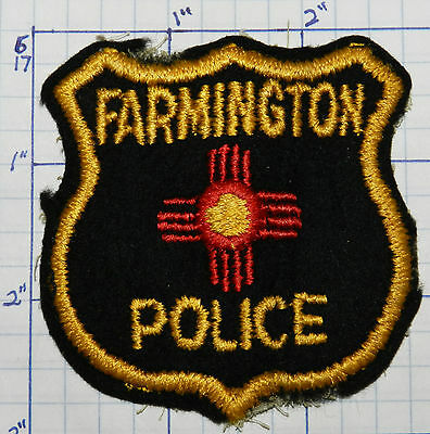"New Mexico, Farmington Police Dept 3"" Felt Patch"