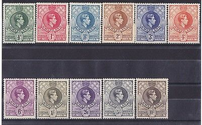 SWAZILAND 1938 KGVI set ½d to 10/- SCARCE PERF 13½ X 13 MNH **
