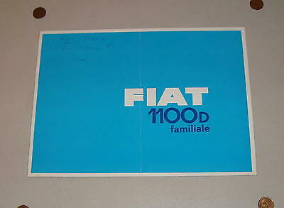 Vintage 1962-1966 Fiat 1100 D Fold-Out Sales Brochure Edition No. 1982 French