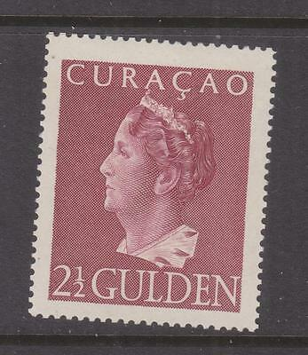 CURACAO, 1946 Wilhelmina, Enschede printing, 2 1/2g. Brown Lake, lhm.