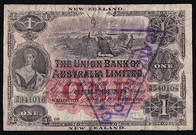 NEW ZEALAND Union Bank of Australasia £1, Wellington 1-3-1905. P-362