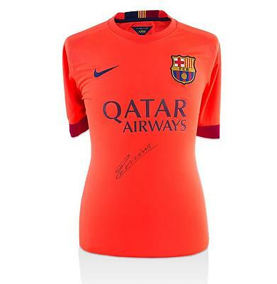 Andres Iniesta Signed Barcelona 2014-15 Front Signed Away Shirt  Autograph