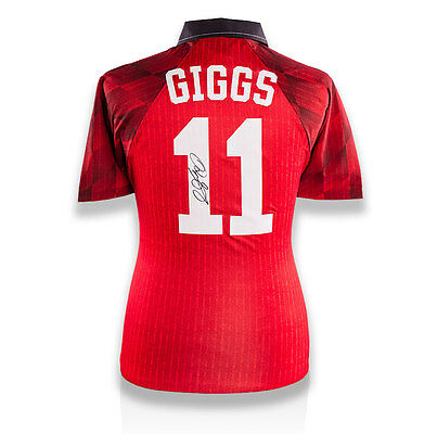 Ryan Giggs Back Signed Manchester United 1996-98 Home Shirt Autograph Jersey