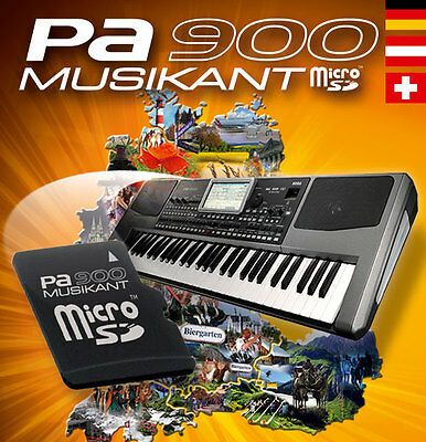 KORG PA-900* MUSIKANT Keyboard Entertainer SOFTWARE Card_new Sounds+Styles_NEU