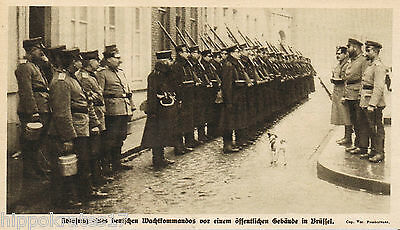 BRÜSSEL, 1915,  Bruxelles deutsches Wachtkommando WW1 german guard command (21)