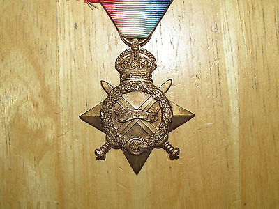 WW1  British  Medal 1914-1915 Star Died 1916 SS Maloga nice
