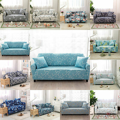 Sofa Slipcovers Polyester Universal Elastic 3 Seats Leather Sofa Cover Protector