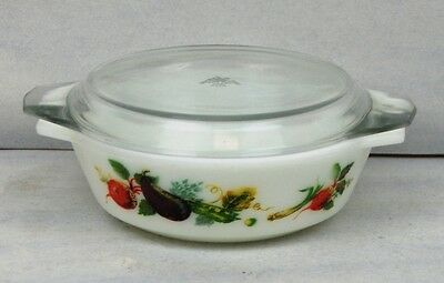 22Cm  Casserole In The  Market Garden/tuscany Design By Jaj Pyrex With Lid