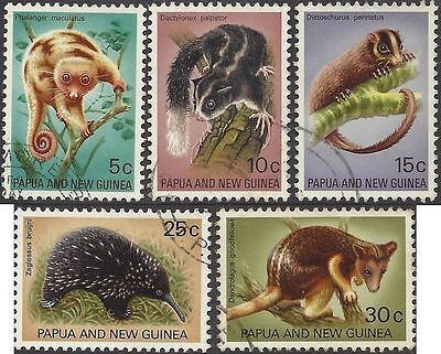 Papua New Guinea 1971 FAUNA CONSERVATION (5) Very Fine Used SG 195-9