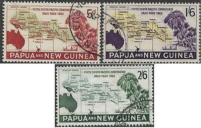 Papua New Guinea 1962 5th South Pacific Conference (3) Very Fine Used SG 36-8