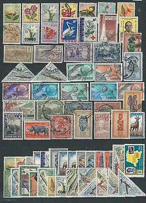Congo Lot Old Stamps Used + Mnh