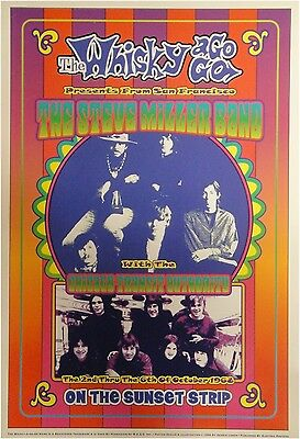 The Steve Miller Band Band Whisky a Go Go 13x19 UNSIGNED Poster