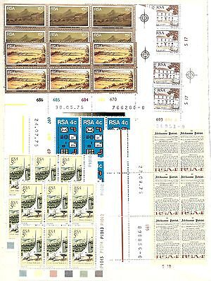 SOUTH AFRICA 8 x MINT NEVER HINGED BLOCKS OF 6