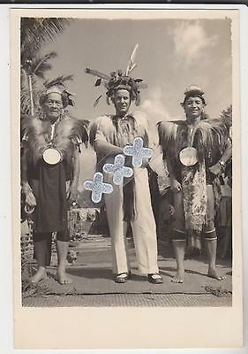 Malaya Kapit Sarawak Photocard - Ethnic Costumed Men Performers ?
