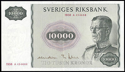 Schweden / Sweden 10000 Kronen 1958 Replacement Pick 49 (3)