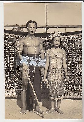 Malaya ? Photocard - Ethnic Costumed Man & Woman Performers ?