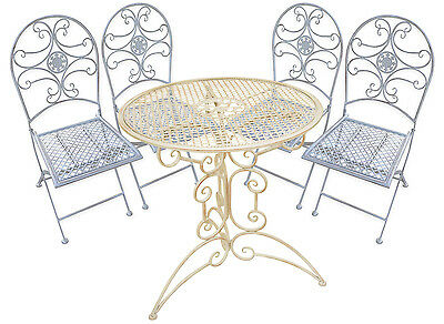 Woodside Outdoor Metal Garden Patio Table And Chair Furniture Set