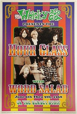 Hour Glass With Word Salad Whisky a Go Go 13x19 UNSIGNED Poster Sunset Strip