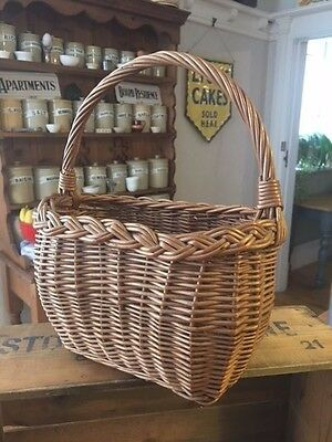 Vintage Small-Sized Wicker / Child's Shopping Basket – Cute Size – Great!