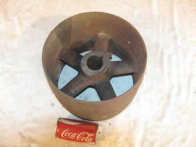 Antique Cast Iron Hit & Miss Gas Steam Engine Line Shaft Flat Belt Pulley 11""