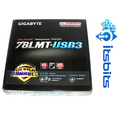 Gigabyte 78Lmt-Usb3 Am3+ Motherboard Usb 3.0 4 Ram Slots Hdmi Dvi Vga & Hd Sound