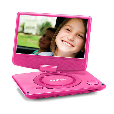 "Voyager Clamshell Folding 7"" DVD Player Pink - Grade A"