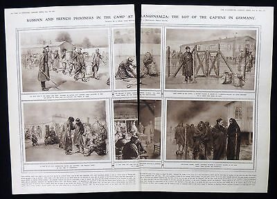BAD LANGENSALZA POW CAMP GERMANY PRISONERS WW1 FIRST WORLD WAR 2pp ARTICLE 1915